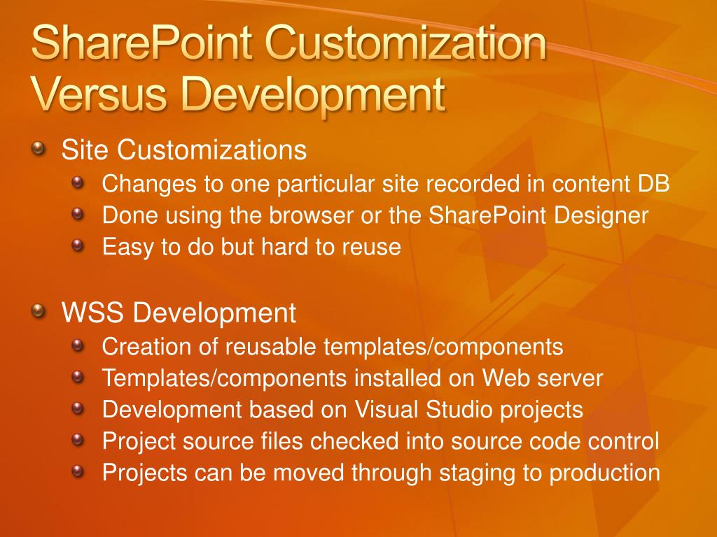 SharePoint Customization Versus Development