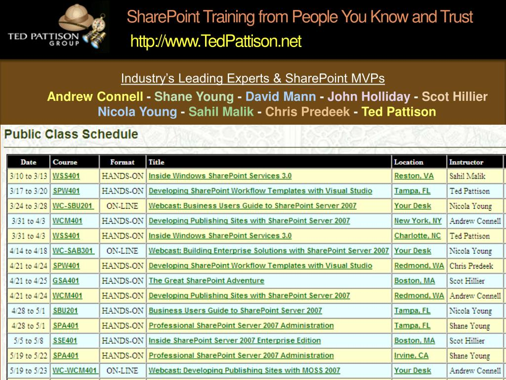 SharePoint Training from People You Know and Trust