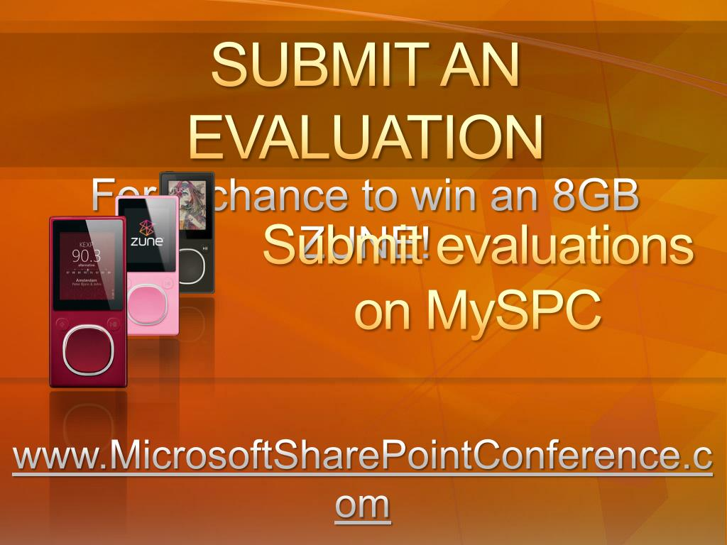 SUBMIT AN EVALUATION
