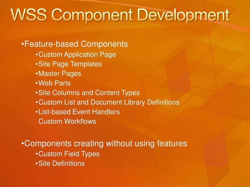 WSS Component Development