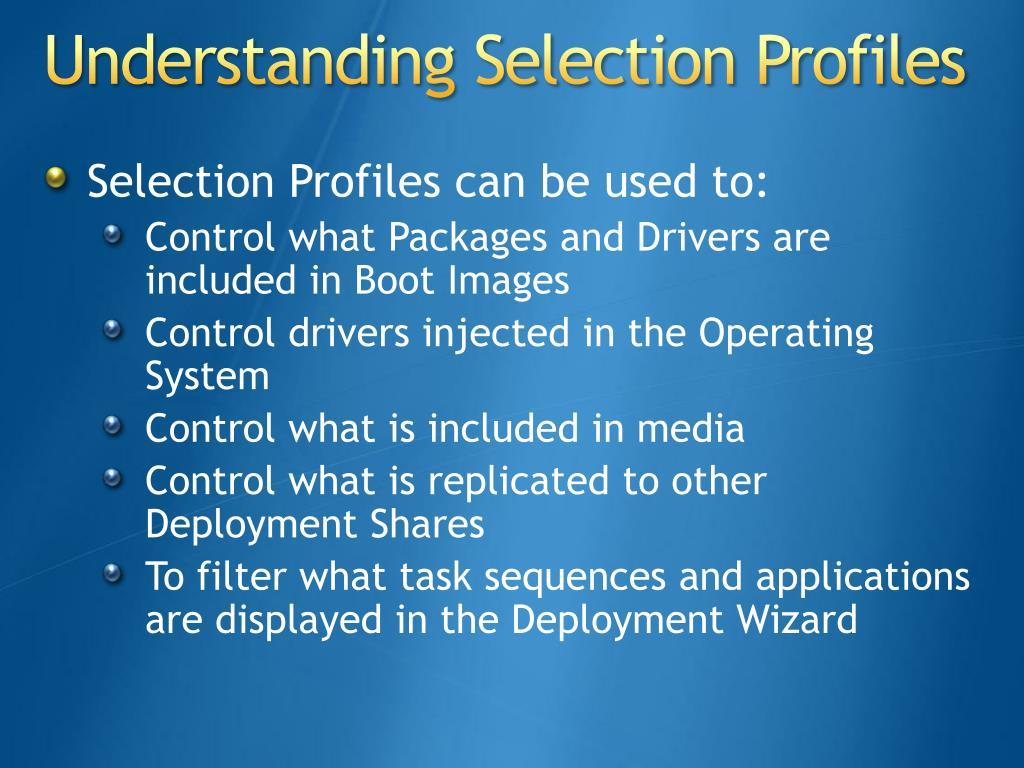 Understanding Selection Profiles