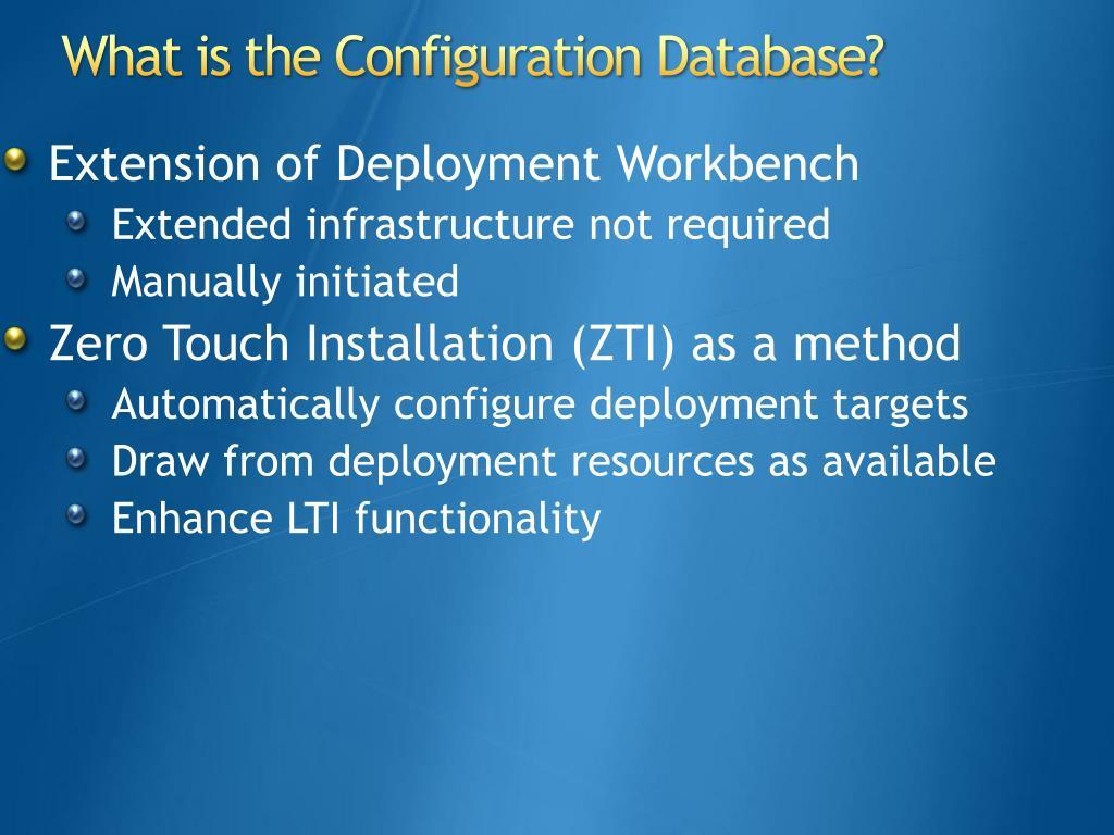 Extension of Deployment Workbench