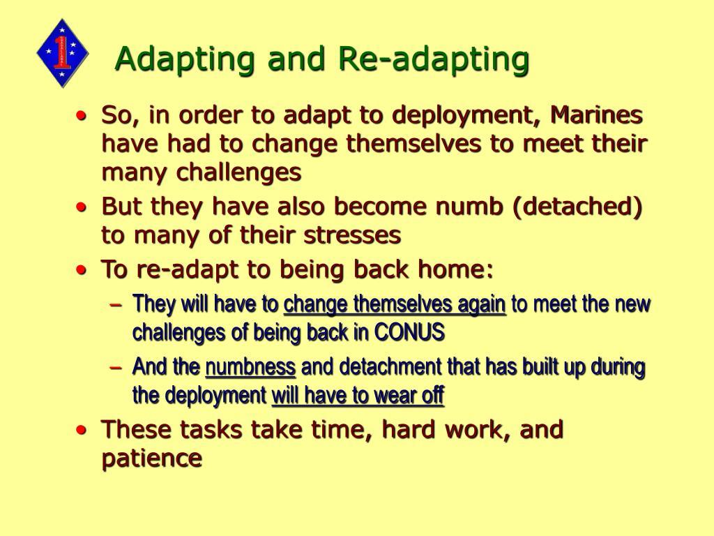 Adapting and Re-adapting
