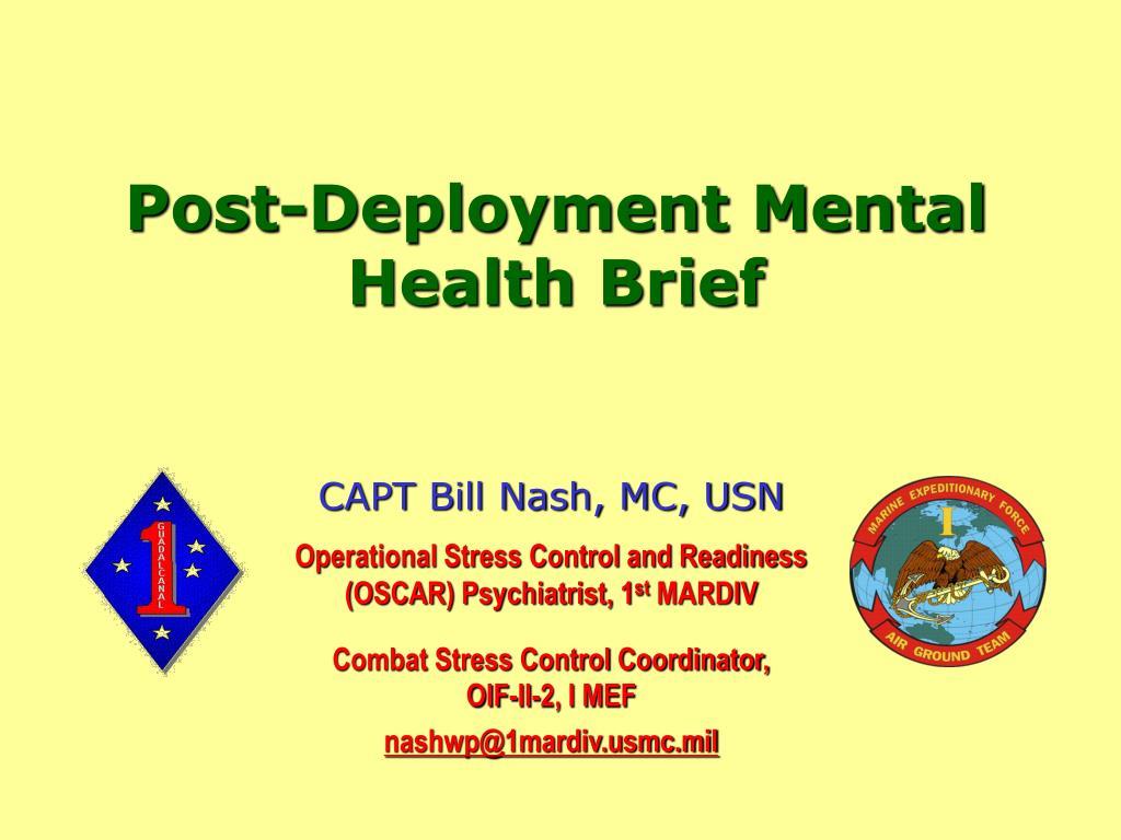 CAPT Bill Nash, MC, USN