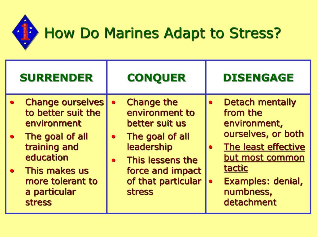 How Do Marines Adapt to Stress?