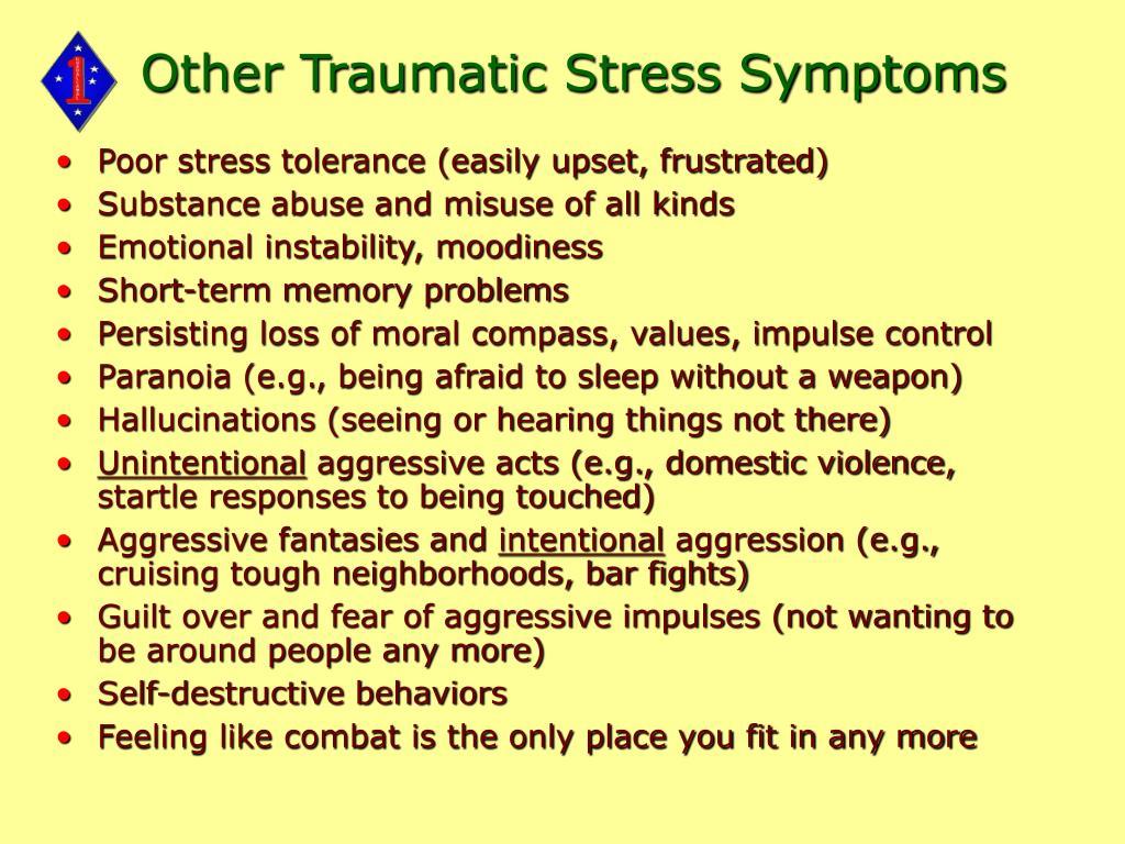 Other Traumatic Stress Symptoms
