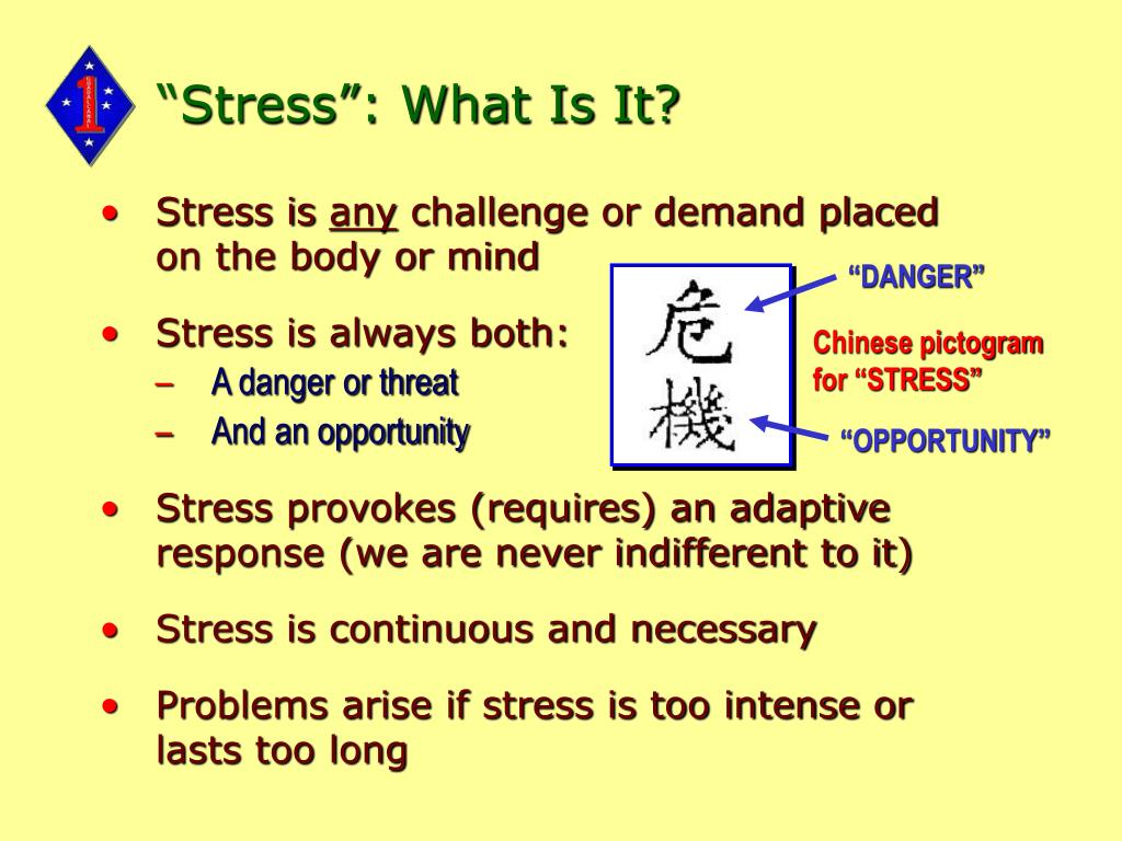 """""""Stress"""": What Is It?"""