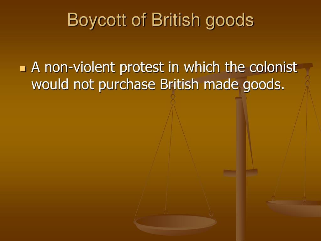 Boycott of British goods