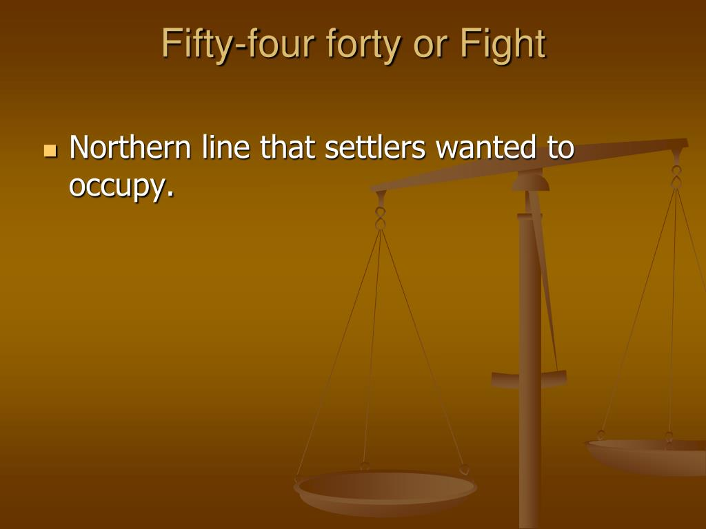 Fifty-four forty or Fight
