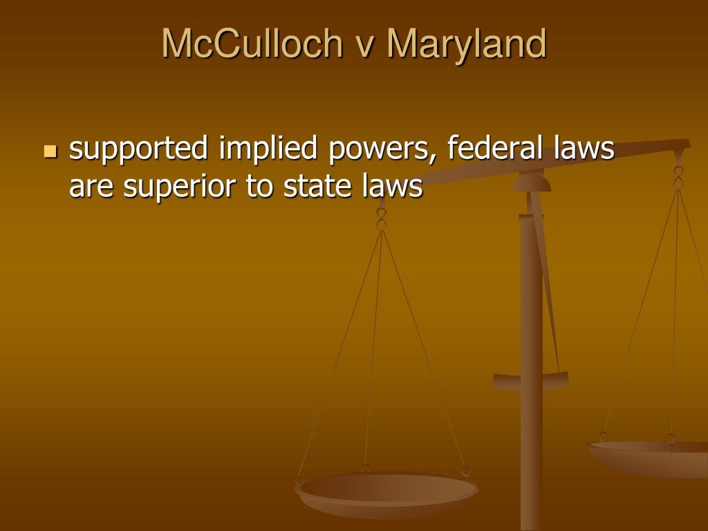 McCulloch v Maryland