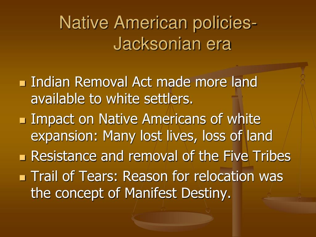Native American policies-Jacksonian era