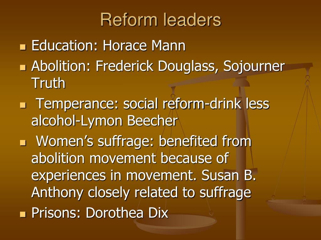 Reform leaders