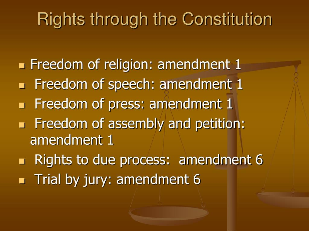Rights through the Constitution