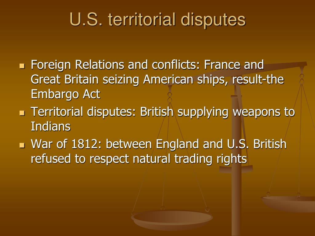 U.S. territorial disputes