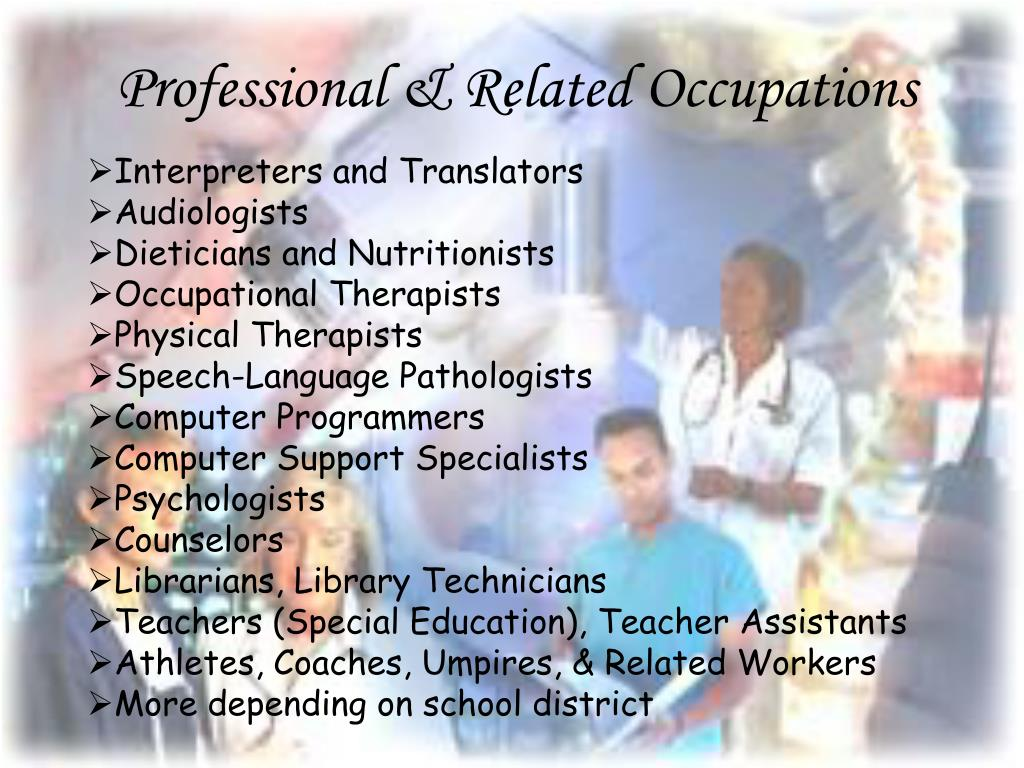 Professional & Related Occupations