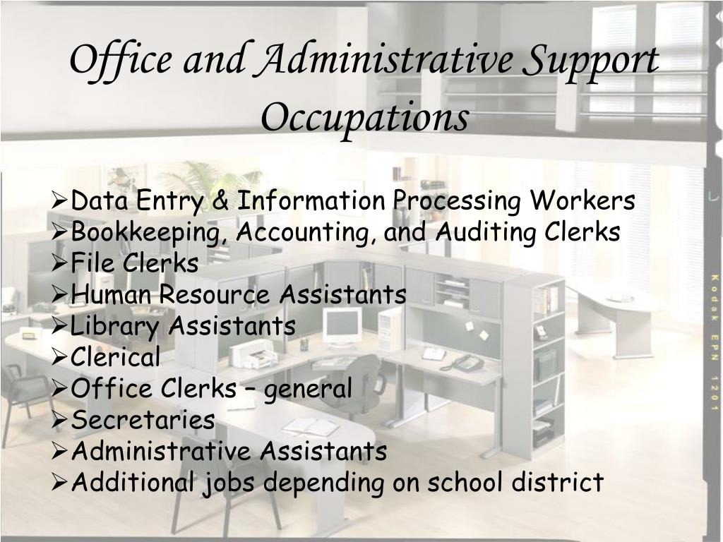 Office and Administrative Support Occupations