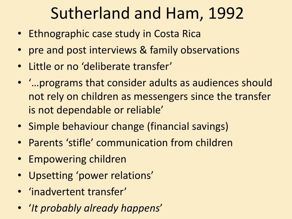 Sutherland and Ham, 1992