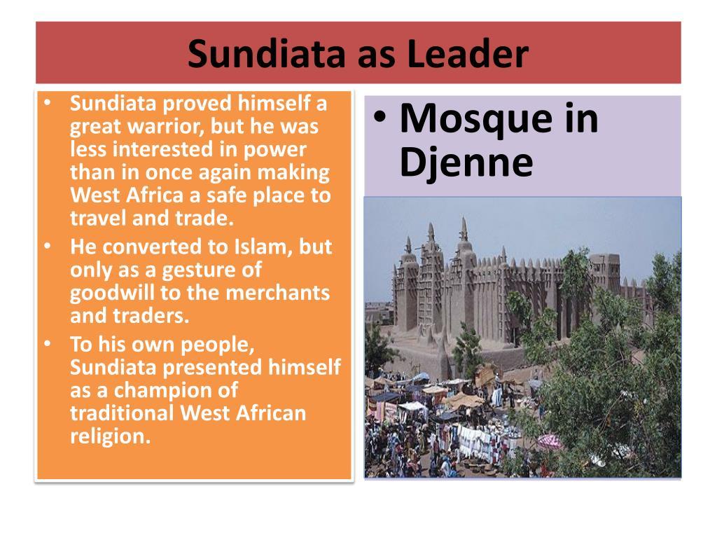 Sundiata as Leader