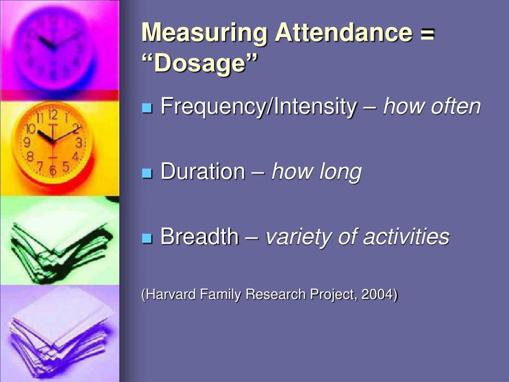 "Measuring Attendance = ""Dosage"""