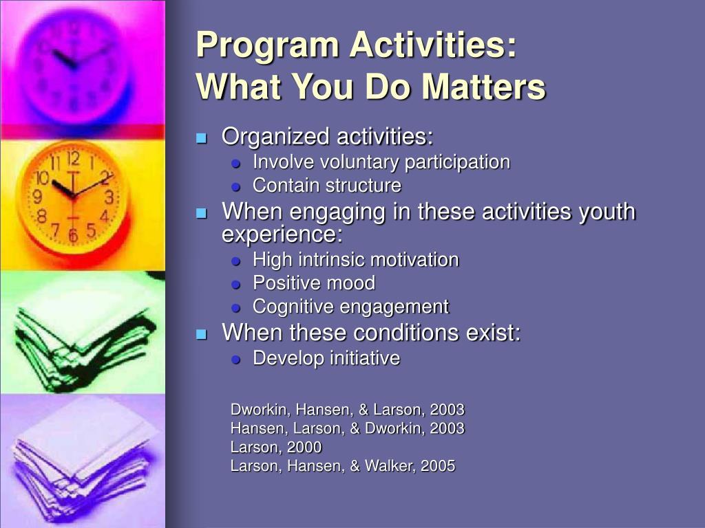 Program Activities: