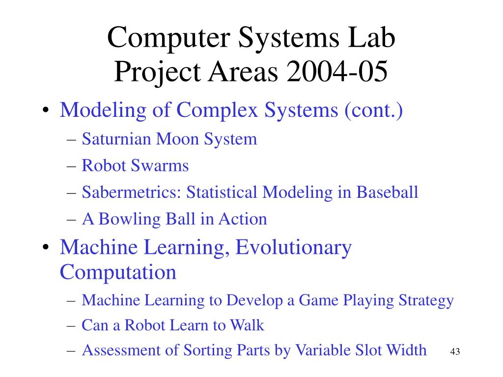 Computer Systems Lab