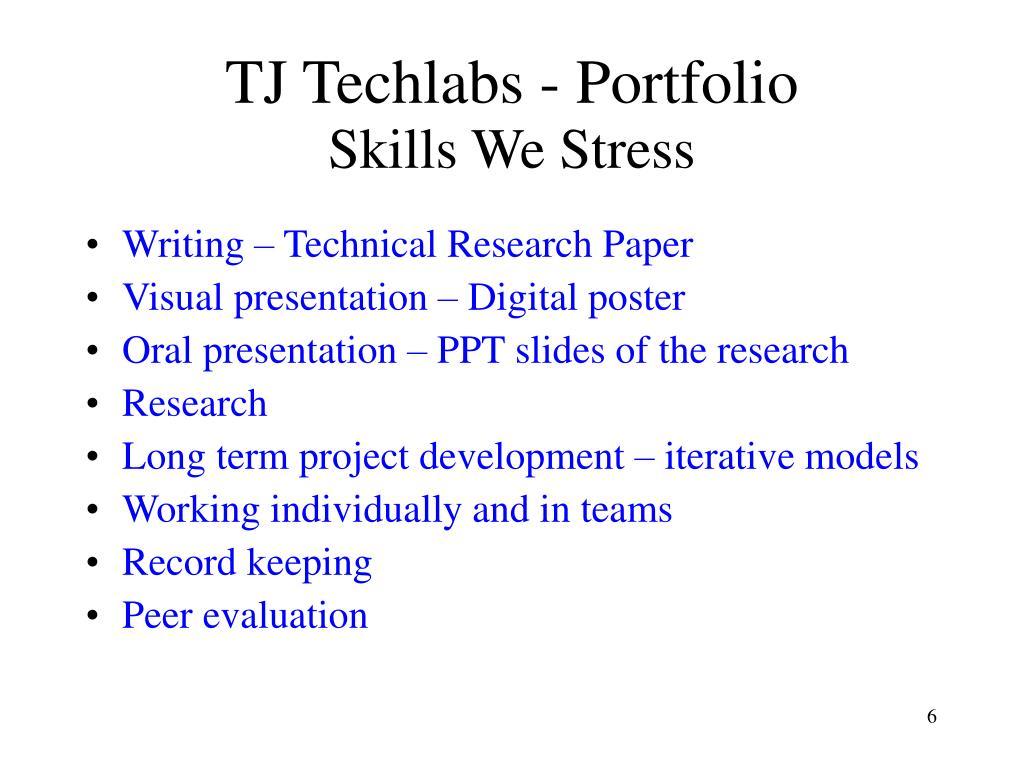 TJ Techlabs - Portfolio
