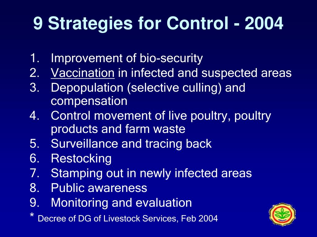 9 Strategies for Control - 2004