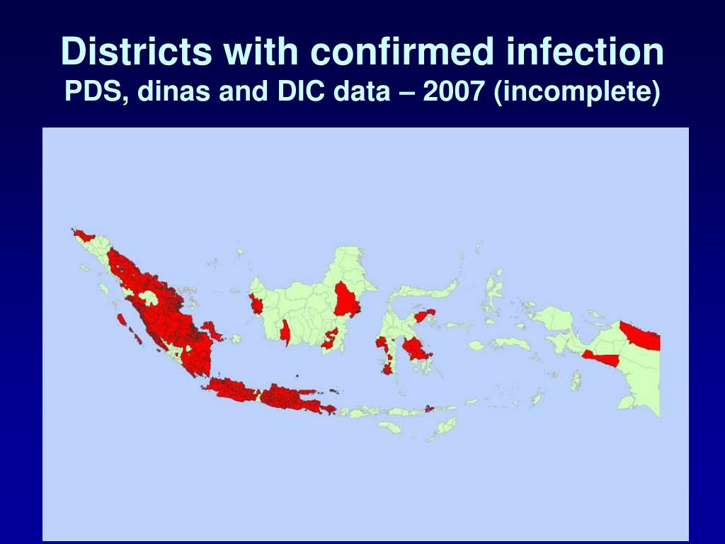 Districts with confirmed infection