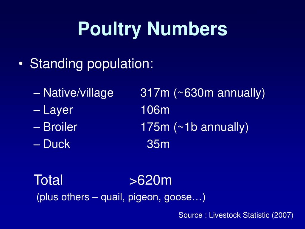 Poultry Numbers