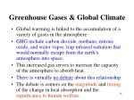 greenhouse gases global climate