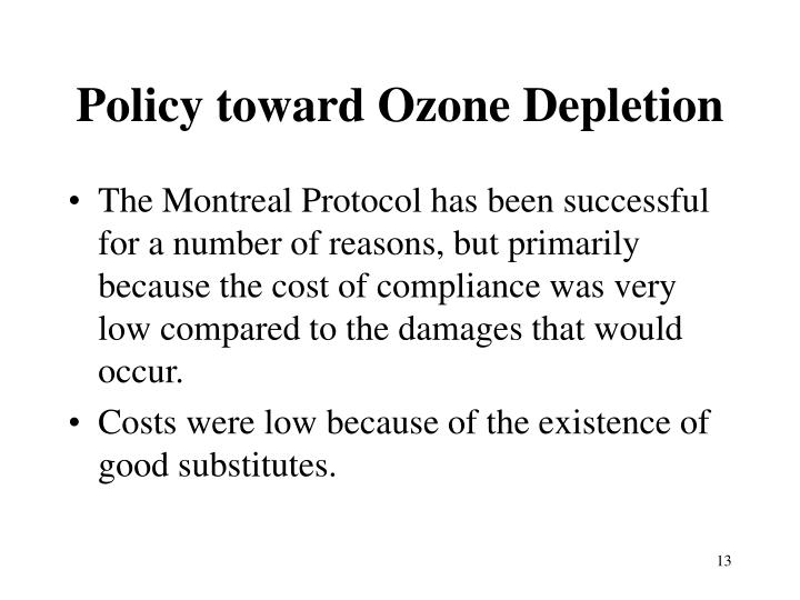 Policy toward Ozone Depletion