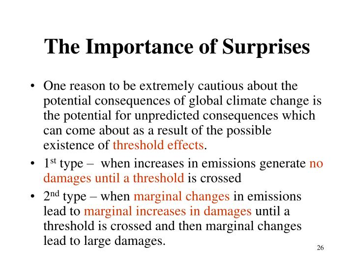 The Importance of Surprises