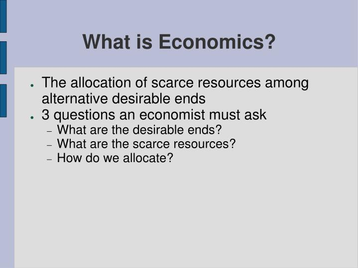 What is economics l.jpg