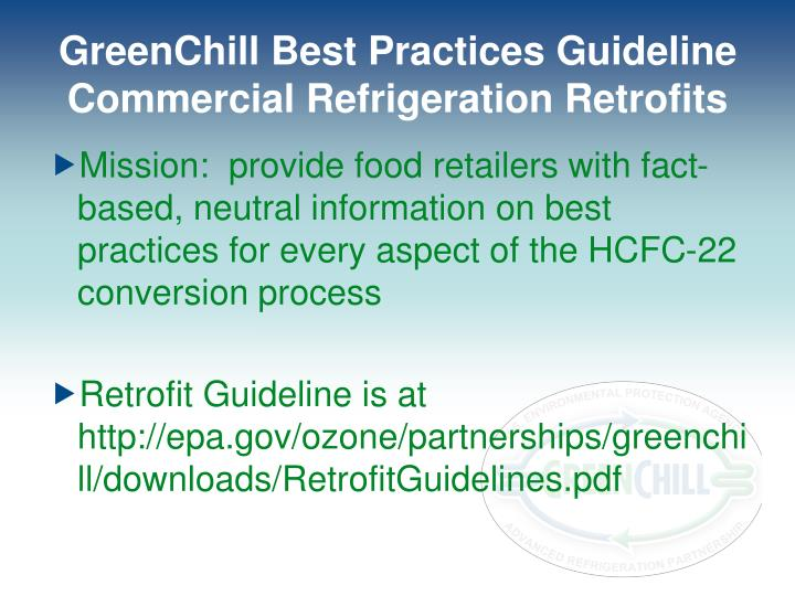 GreenChill Best Practices Guideline