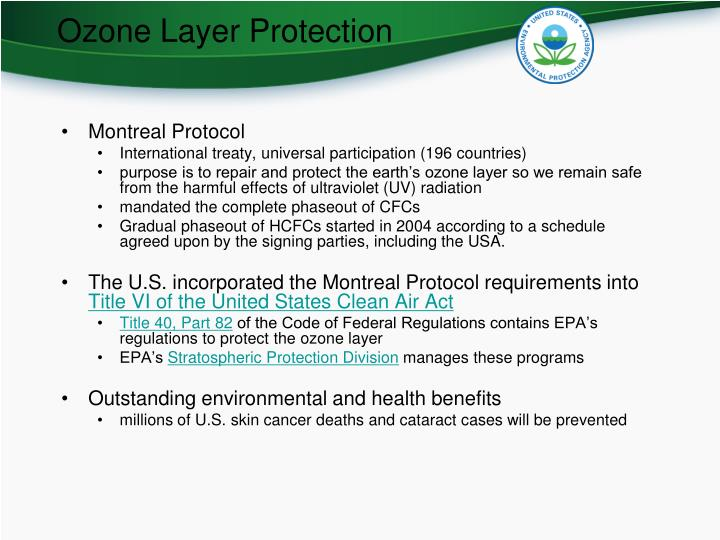 Ozone Layer Protection