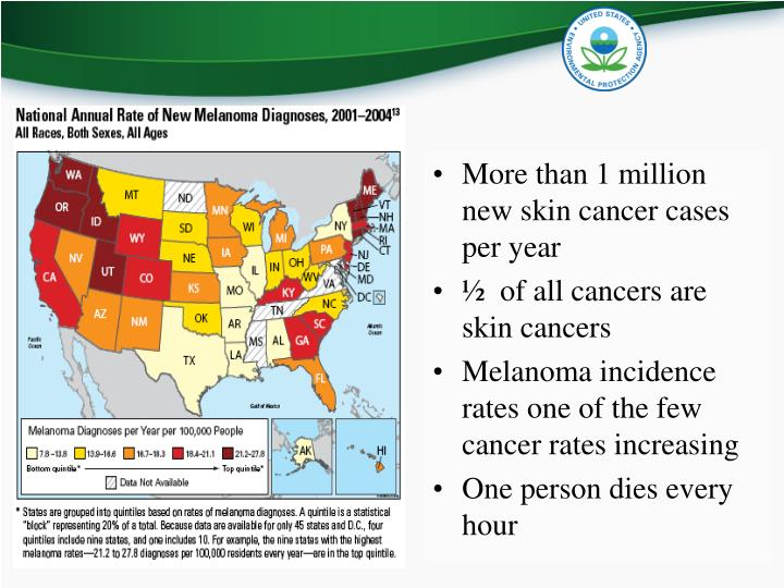 More than 1 million new skin cancer cases per year
