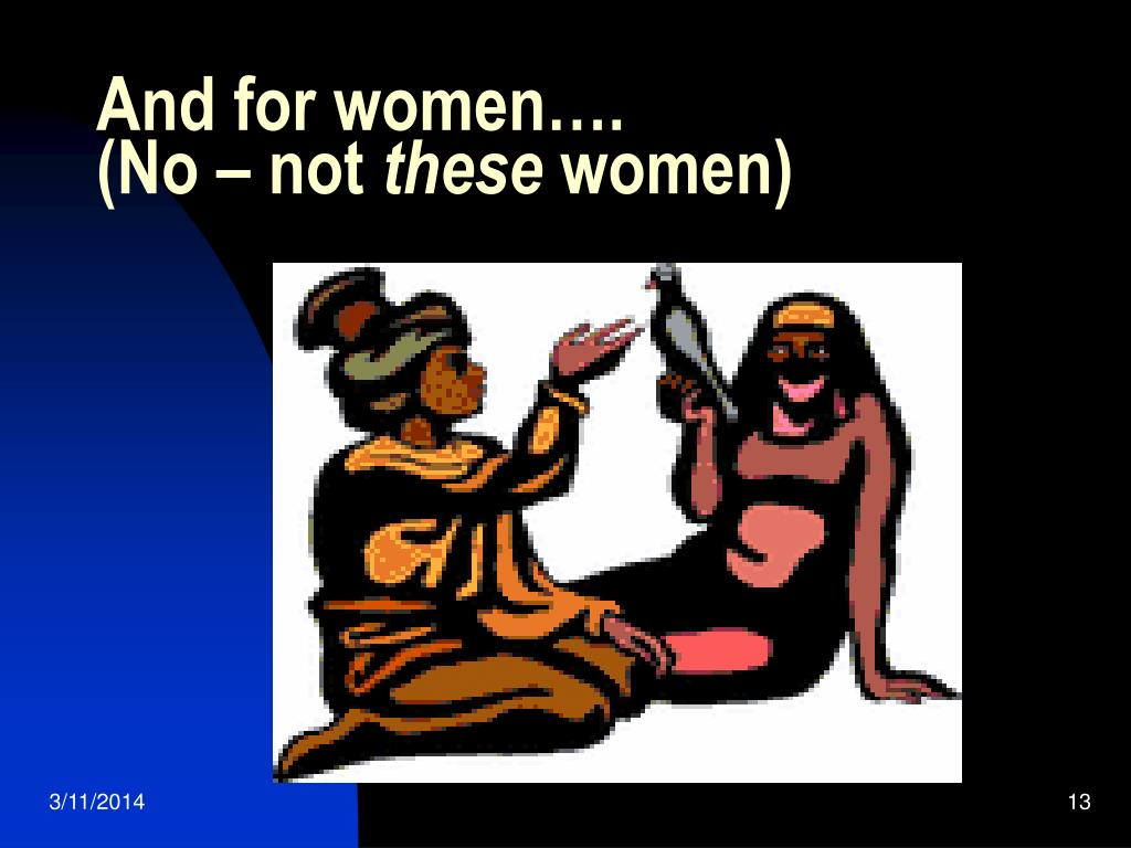 And for women….