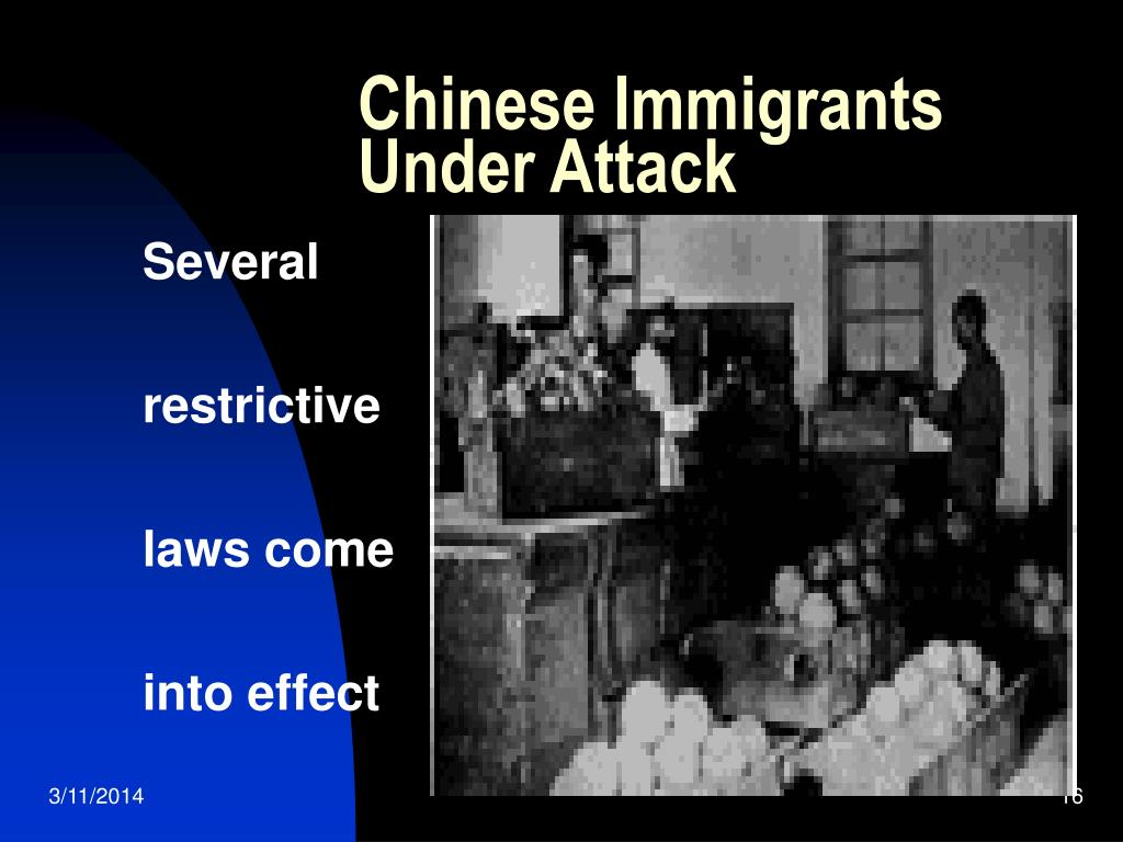 Chinese Immigrants Under Attack