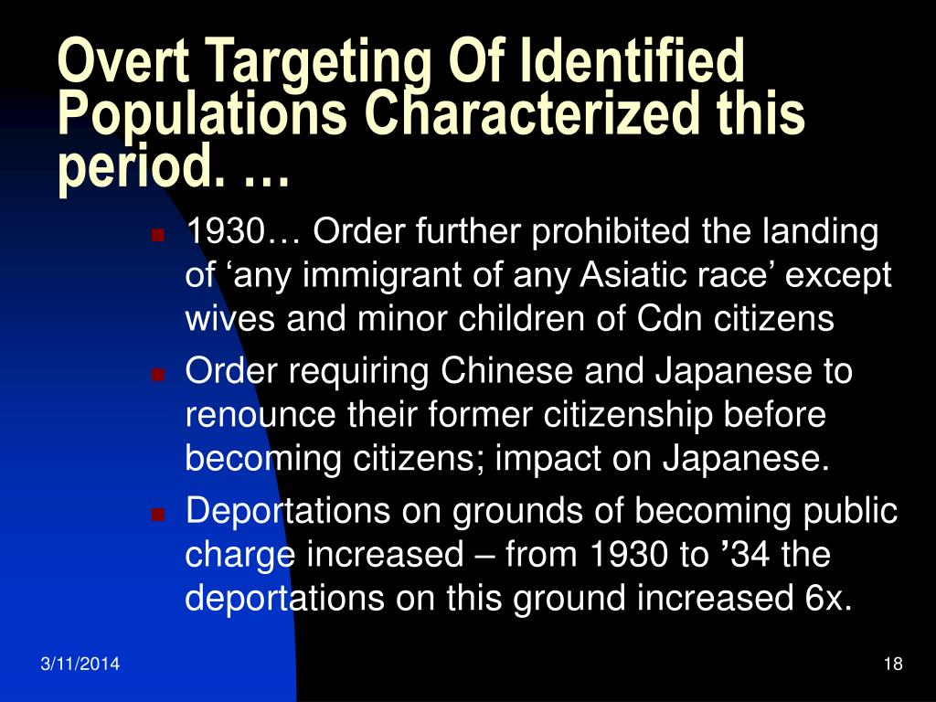 Overt Targeting Of Identified Populations Characterized this period. …