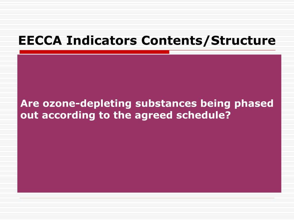 EECCA Indicators Contents/Structure