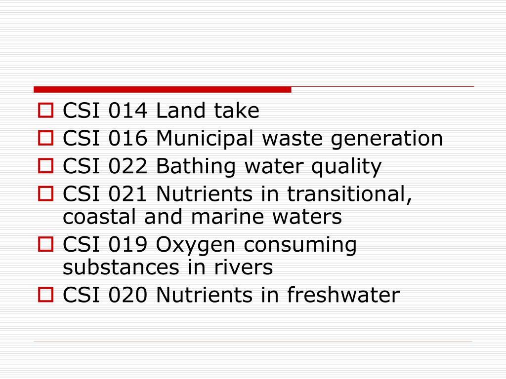 CSI 014 Land take