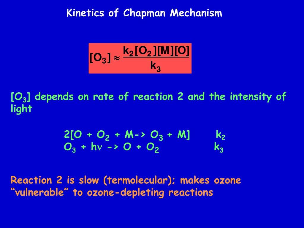 Kinetics of Chapman Mechanism