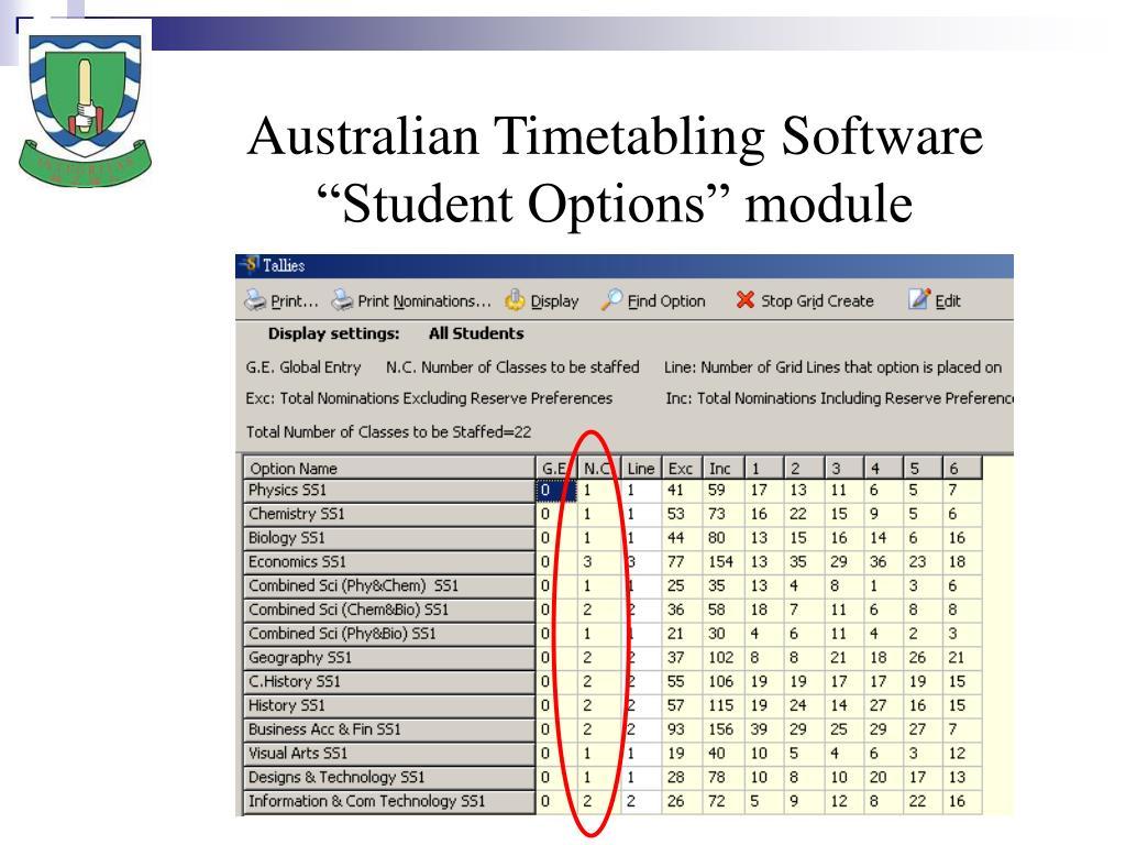 Australian Timetabling Software