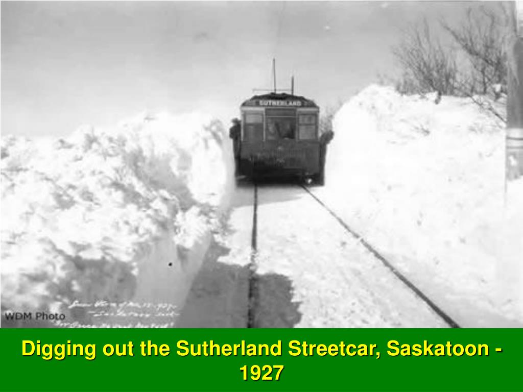 Digging out the Sutherland Streetcar, Saskatoon - 1927