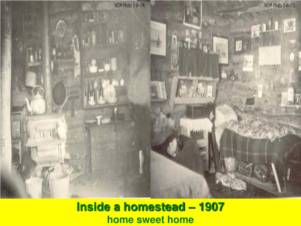 Inside a homestead – 1907