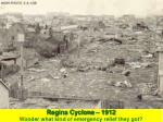 regina cyclone 1912 wonder what kind of emergency relief they got