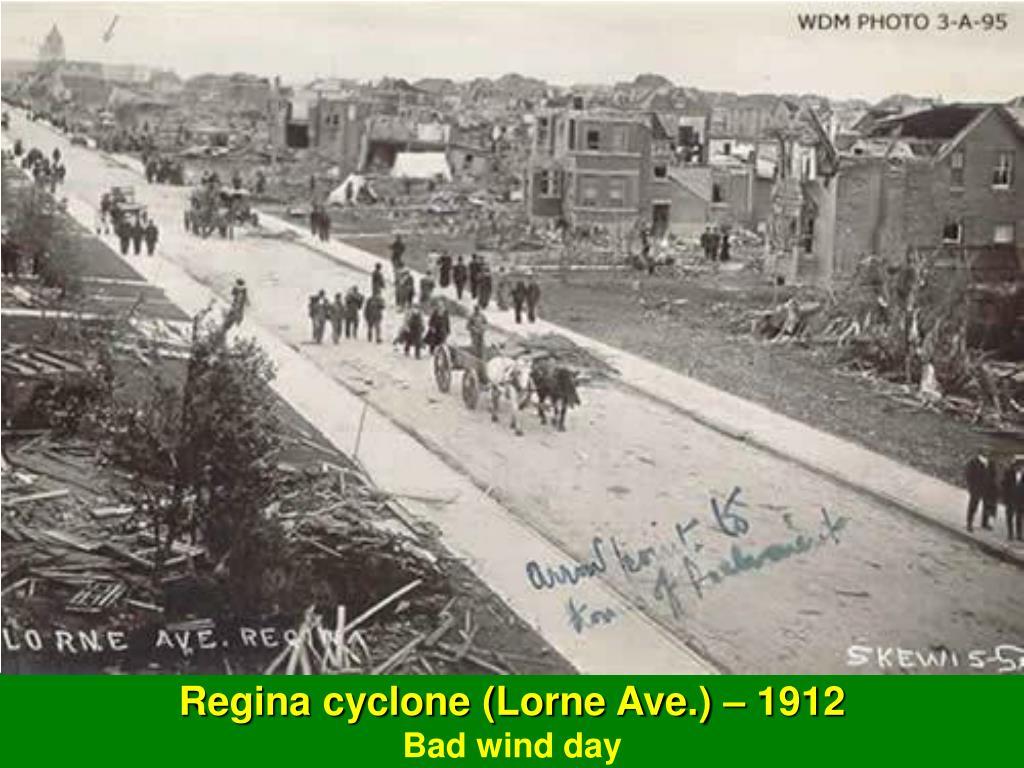 Regina cyclone (Lorne Ave.) – 1912