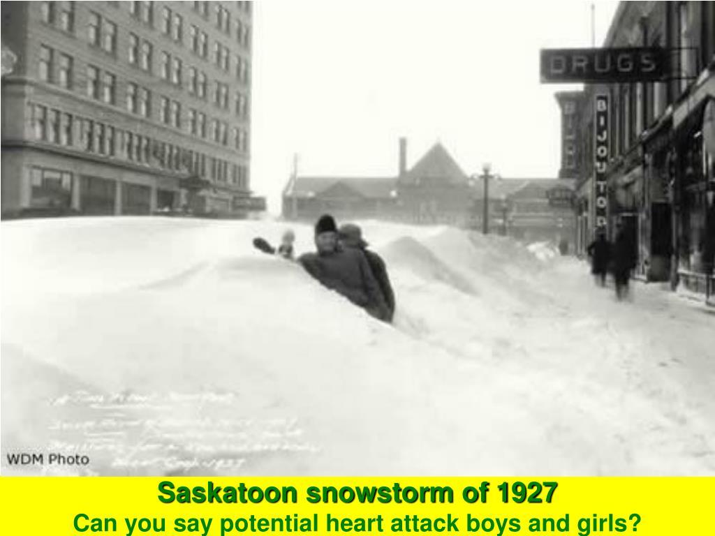 Saskatoon snowstorm of 1927