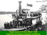 steam boat at prince albert 1900 looks like an insurance salesman conference