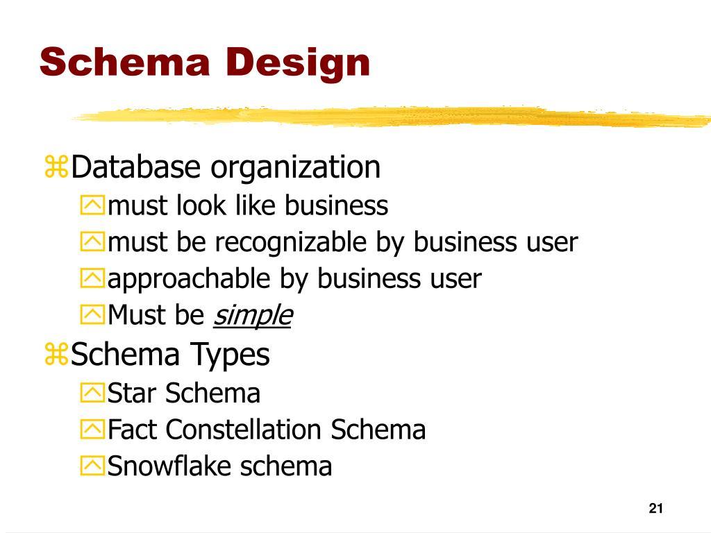 Schema Design